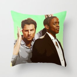 Shawn and Gus (Psych) Throw Pillow