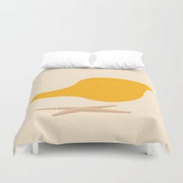 Yellow La Chaise Chair by Charles & Ray Eames Duvet Cover