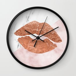 Kiss me marble Wall Clock