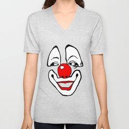 simple clown, clown, payaso, circus, circo, fairground art,  Unisex V-Neck