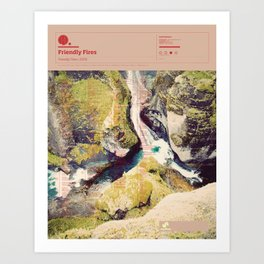 The Visual Mixtape 2010 | Friendly Fires | 14 / 25 Art Print