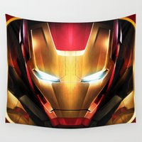 daenerys targaryen Wall Tapestries featuring IRON MAN IRON MAN by Smart Friend