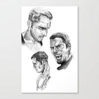 study Canvas Prints featuring Study by Vito Fabrizio Brugnola