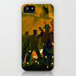 From Slavery thru Reconstruction - 135th Street Mural NY Public Library by Aaron Douglas iPhone Case