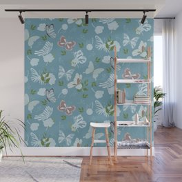 Butterfly Flowers 1 Wall Mural