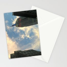Looking up at Skyscrapers Stationery Cards