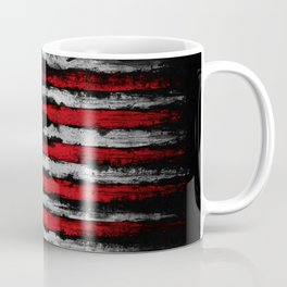 Red & white Grunge American flag Coffee Mug
