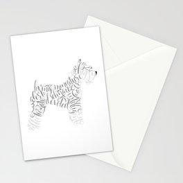 Miniature Schnauzer Wall Art Schnauzer Portrait Stationery Cards