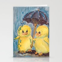ducks Stationery Cards featuring Ducks by Corinne Fallone