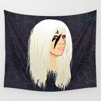 disco Wall Tapestries featuring Disco Heaven by Pendientera