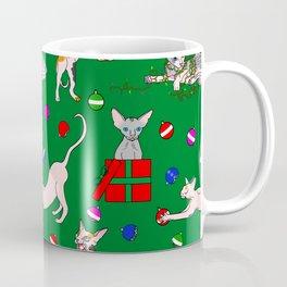 christmas sphynx (naked cat) ugly sweater Coffee Mug