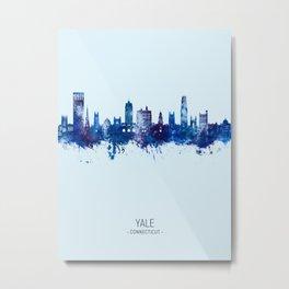 Yale Connecticut Skyline Metal Print