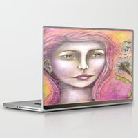 olivia joy Laptop & iPad Skins featuring Olivia by Art by Sandy & Mariah Gonyea