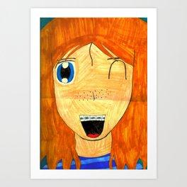 brace face Art Print