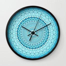 Coastal Spray Mandala Wall Clock