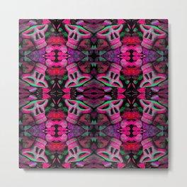 pink skulls Metal Print