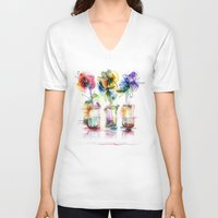 card V-neck T-shirts featuring card by tatiana-teni