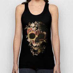 Garden Skull Light Unisex Tank Top
