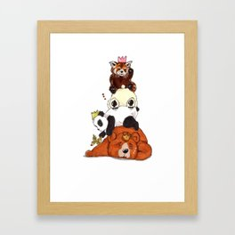 Pandas And Bears Party Framed Art Print