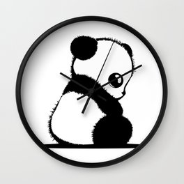 small panda Wall Clock