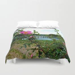 Cape Rose in Full Bloom Duvet Cover
