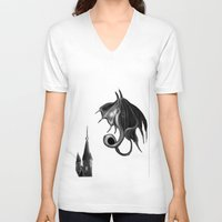 mother of dragons V-neck T-shirts featuring Dragons by DragonsTime