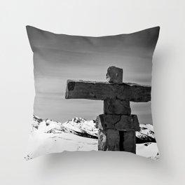 Stand Tall Inuksuk Throw Pillow