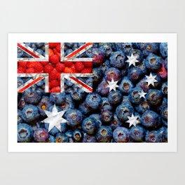 Healthy Australia Flag Art Print