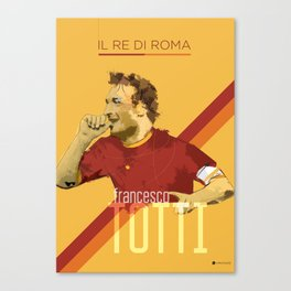 Totti AS Roma / Serie A Superstar Football Player Canvas Print