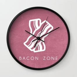 BACON ZONE Wall Clock