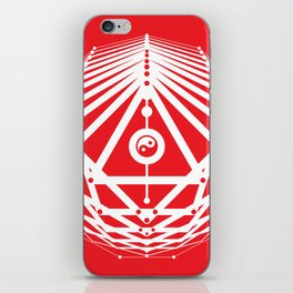 Radiant Abundance (white-red) iPhone Skin