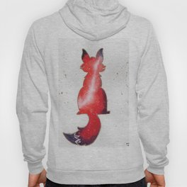 """Red Galaxy Fox"" watercolor painting Hoody"