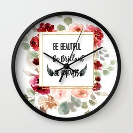 Be Badass Wall Clock
