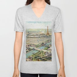 Paris World Fair 1900 Unisex V-Neck