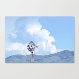 """Blue Windmill Blue Sky"" by Murray Bolesta Canvas Print"