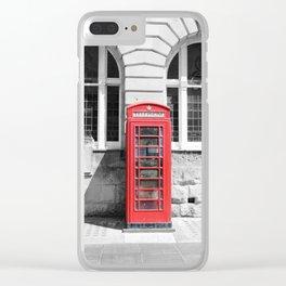 Classic Britain Clear iPhone Case