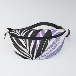Lavender Olive Branches / Contemporary House Plant Drawing Fanny Pack