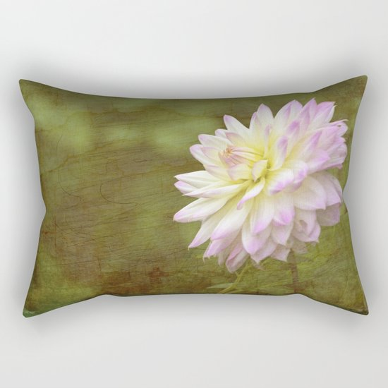 White Purple Dahlia Rectangular Pillow