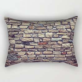 Brick Wall Pattern Rectangular Pillow