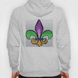 Fleur De Lis Purple Green and Gold Hoody
