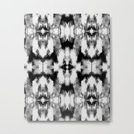 Tie Dye Blacks Metal Print