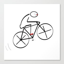 Stylized Bicyclist Canvas Print
