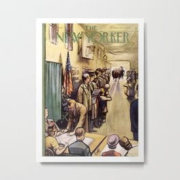 The New Yorker Magazine Cover Metal Print