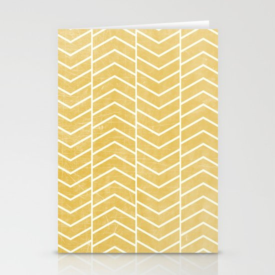 Yellow Chevron Stationery Cards
