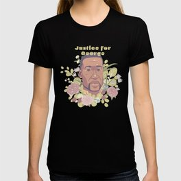 Justice for George Floyd | with green text T-shirt