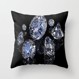 SHINE BRIGHT DIAMOND Throw Pillow