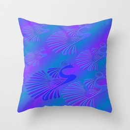 Peacocks / Abstract Throw Pillow