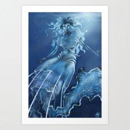 Jellyfish Mermaid Art Print