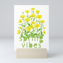 Spring Vibes. Buttercup Flowers  Mini Art Print