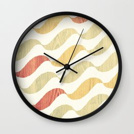 Wave wood Wall Clock